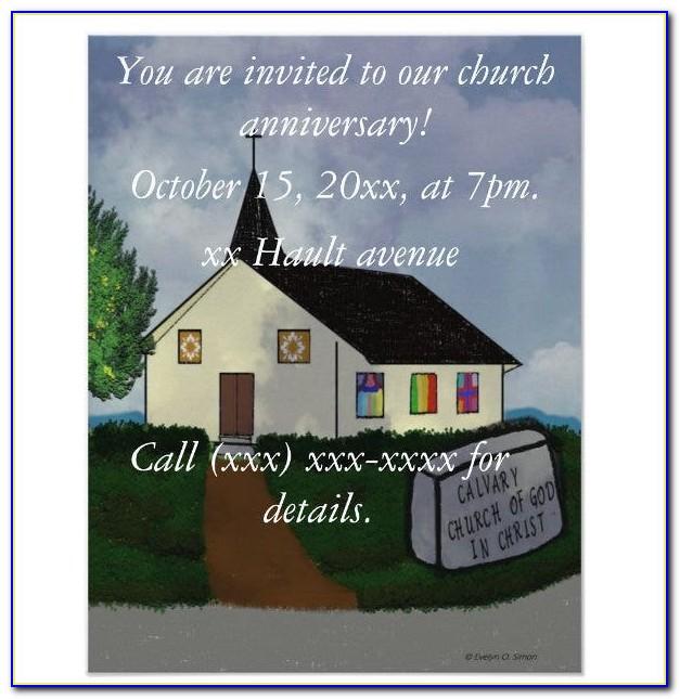 Free Printable Church Invitation Templates