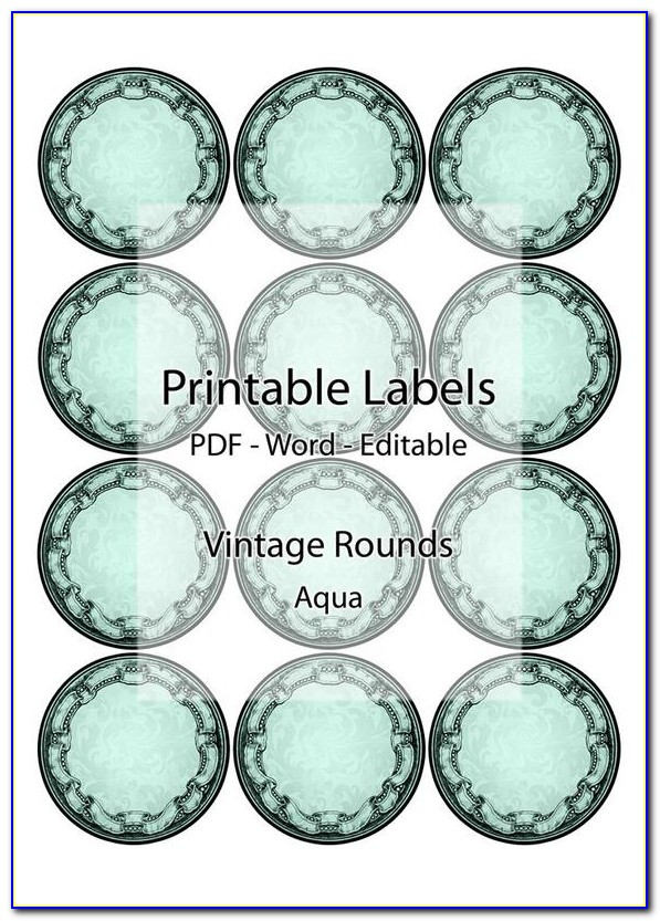 Free Printable Circle Label Templates