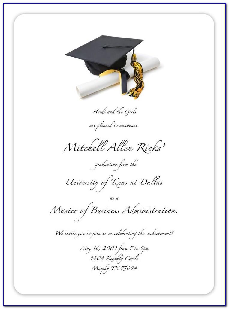 Free Printable College Graduation Invitation Templates