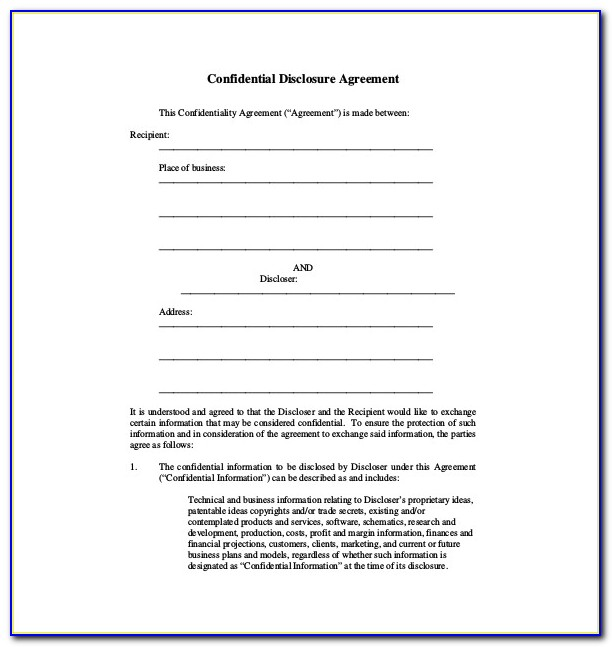 Free Printable Consignment Agreement Form
