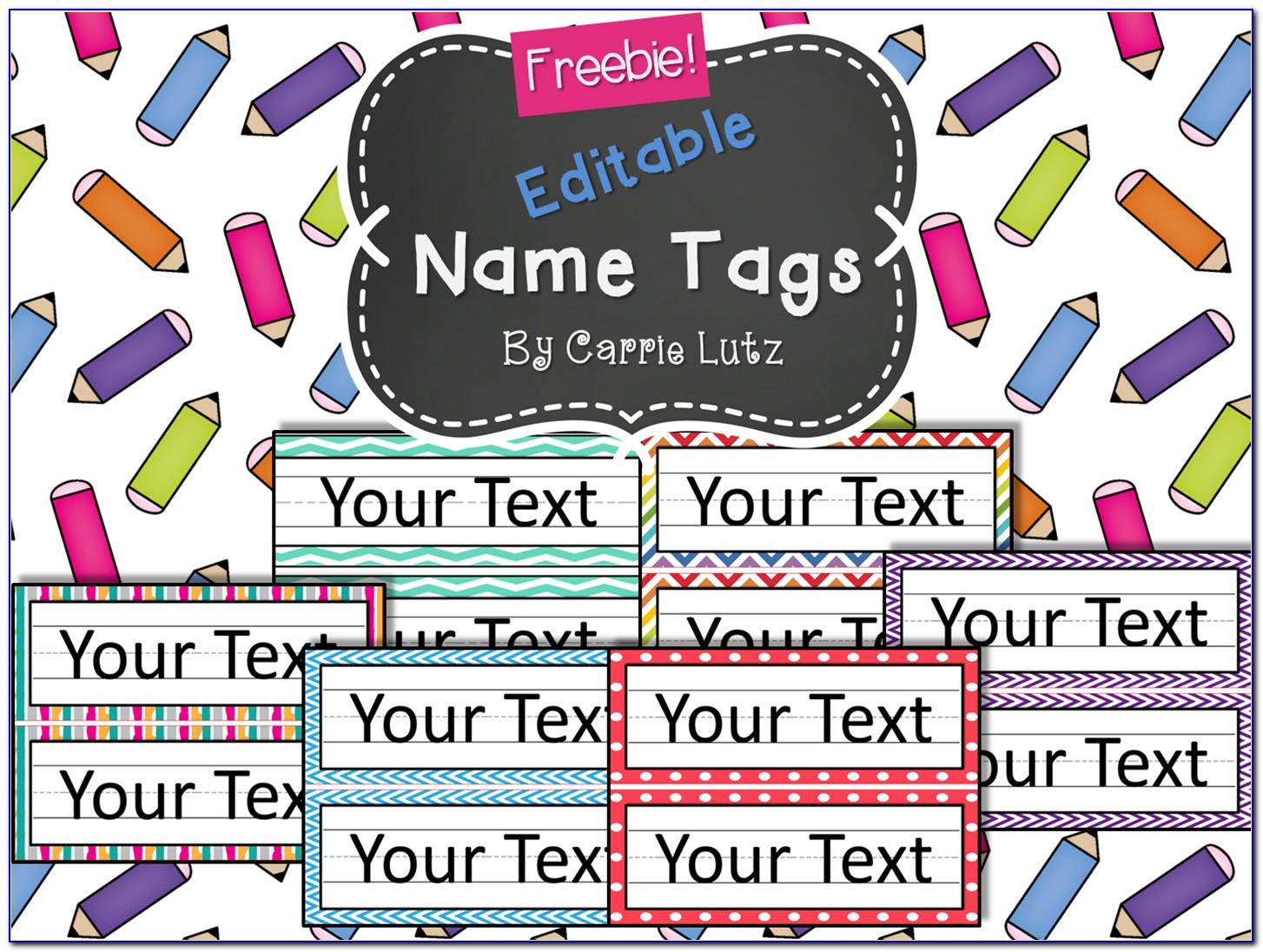 Free Printable Editable Name Tags
