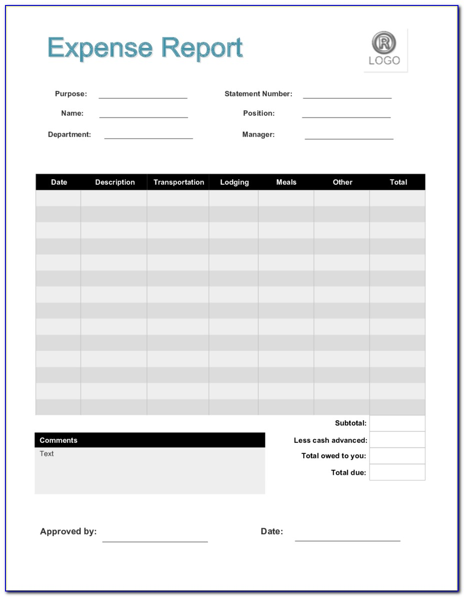 Free Printable Expense Reports Templates