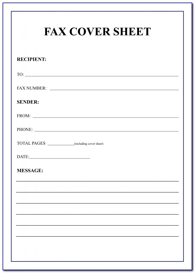Free Printable Fax Cover Sheet Template Word
