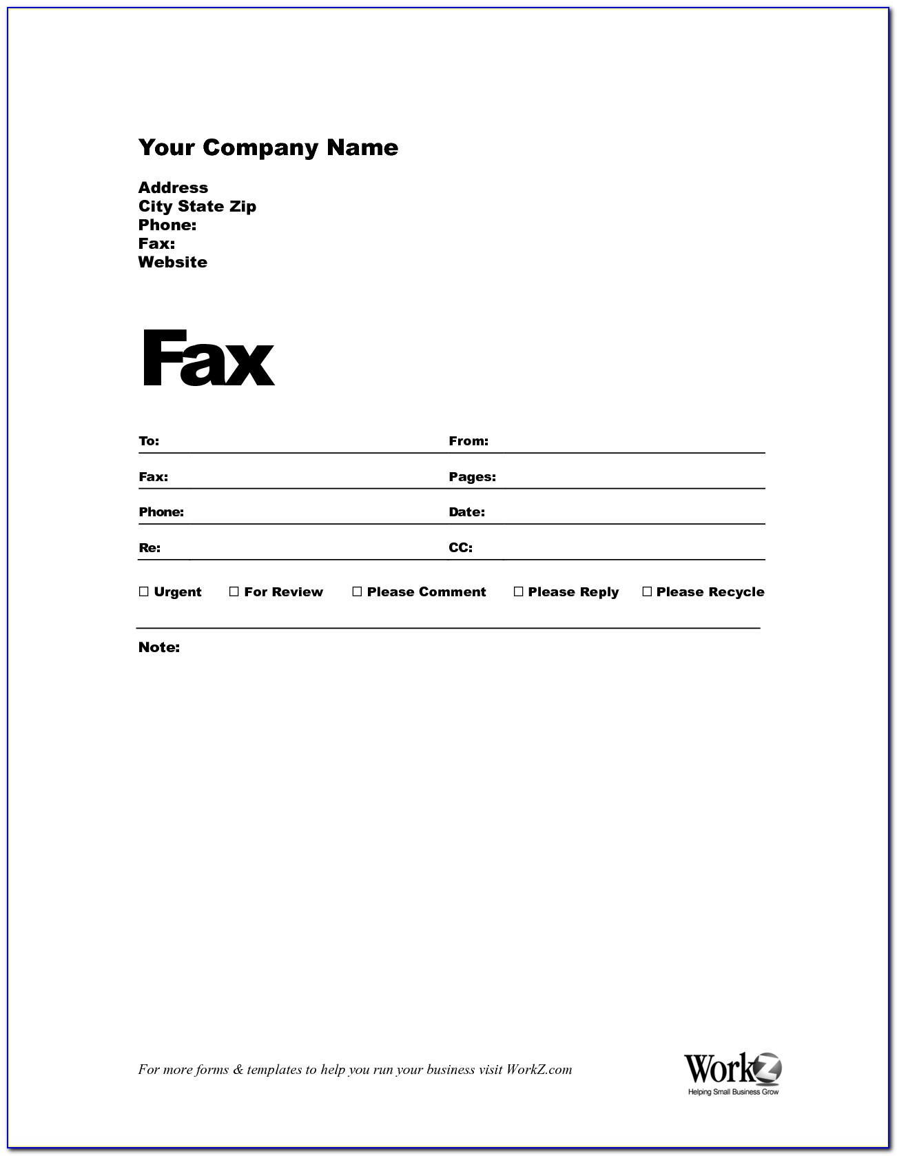 Free Printable Fax Template Cover Sheet