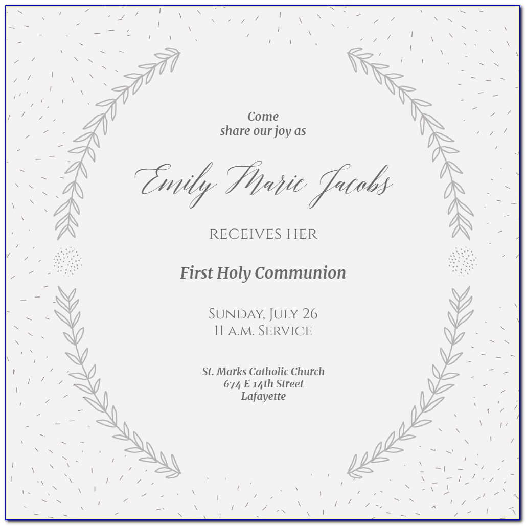 Free Printable First Communion Banner Templates
