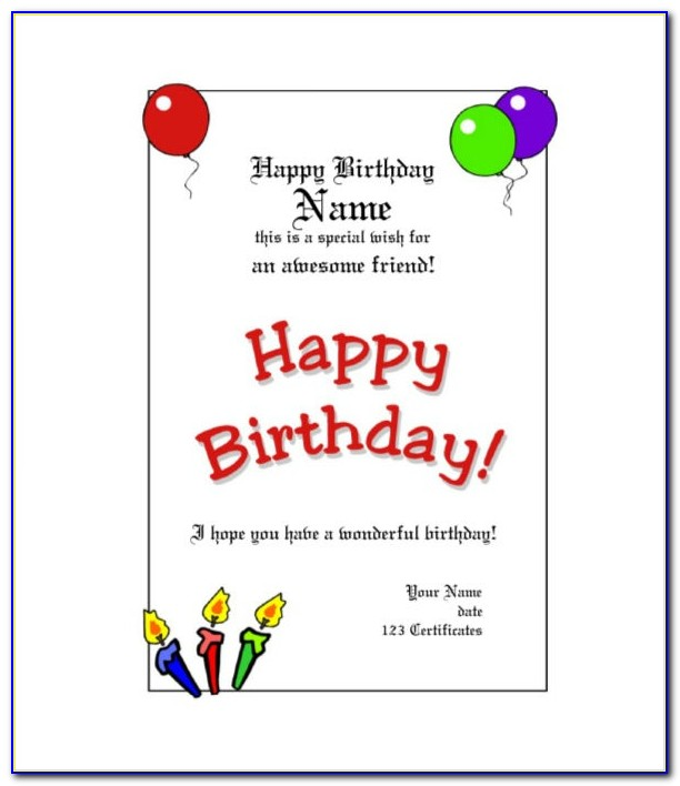Free Printable Gift Certificate Templates For Birthday
