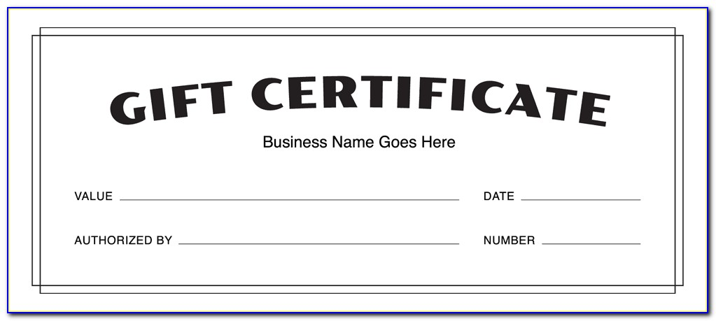 Free Printable Gift Certificate Templates No Download