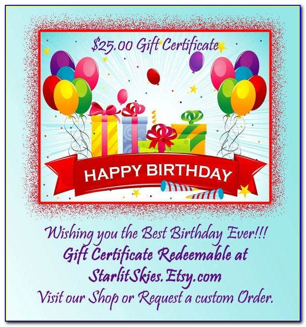 Free Printable Gift Certificate Templates Online