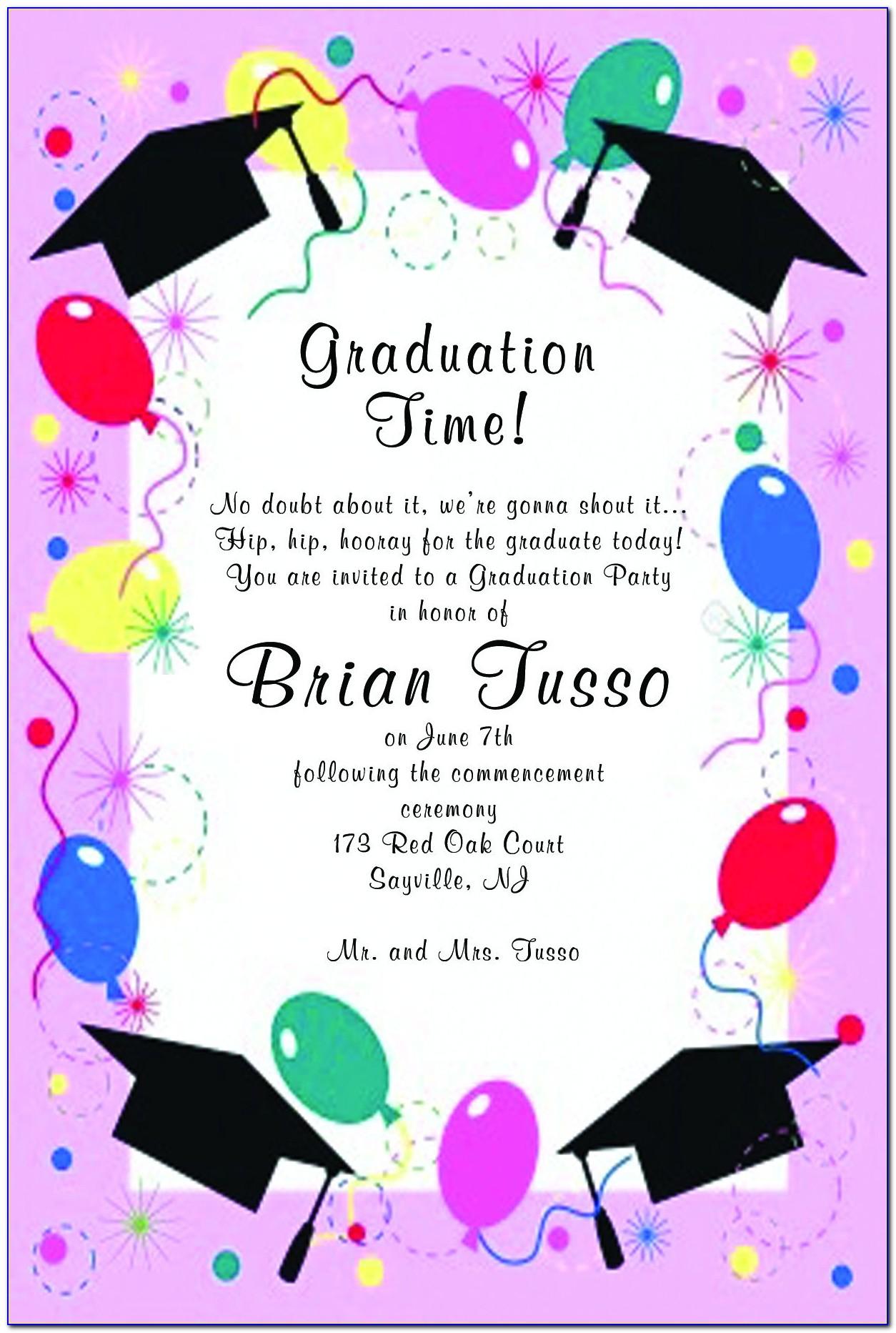 Free Printable Graduation Invitation Card Templates