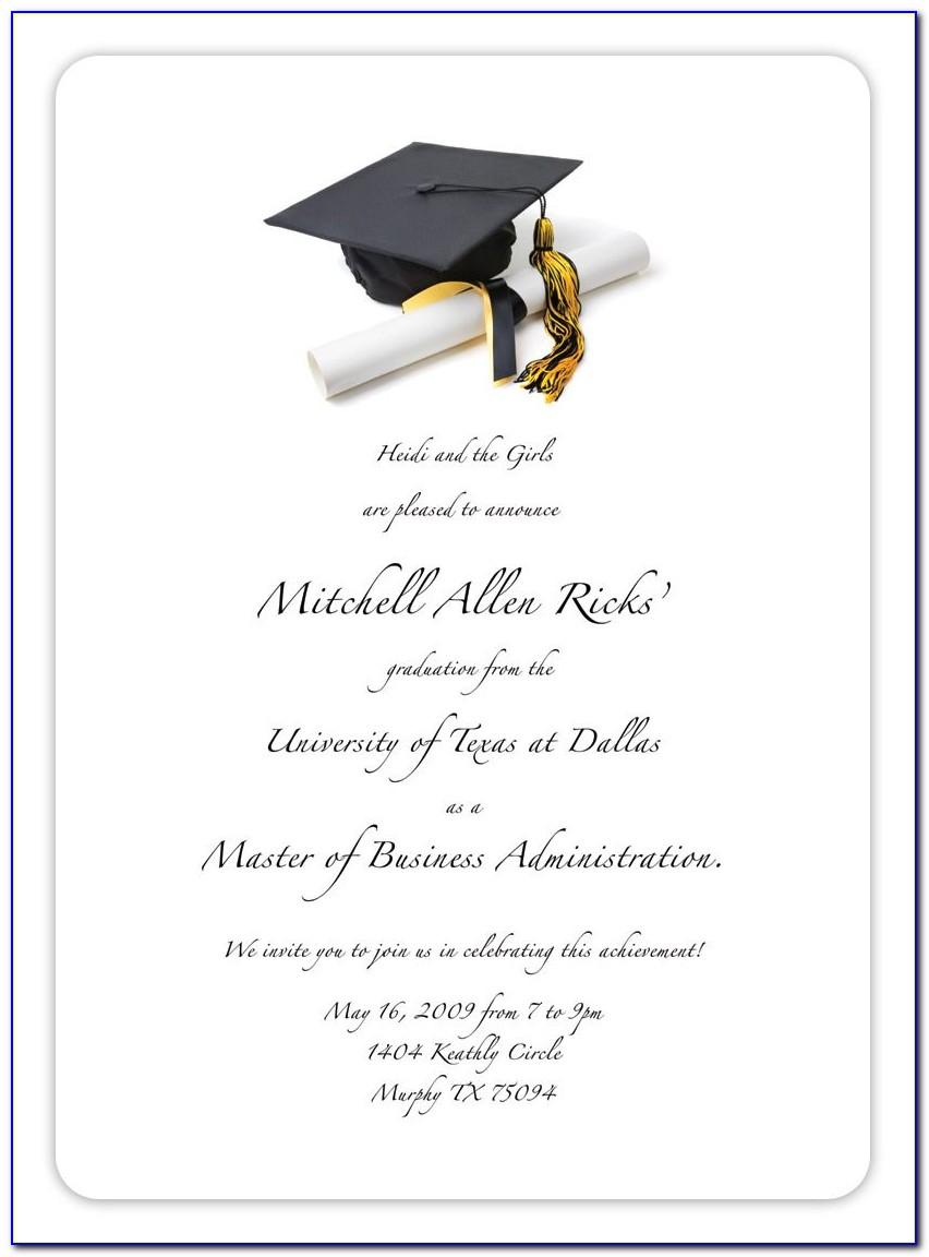Free Printable Graduation Invitation Maker
