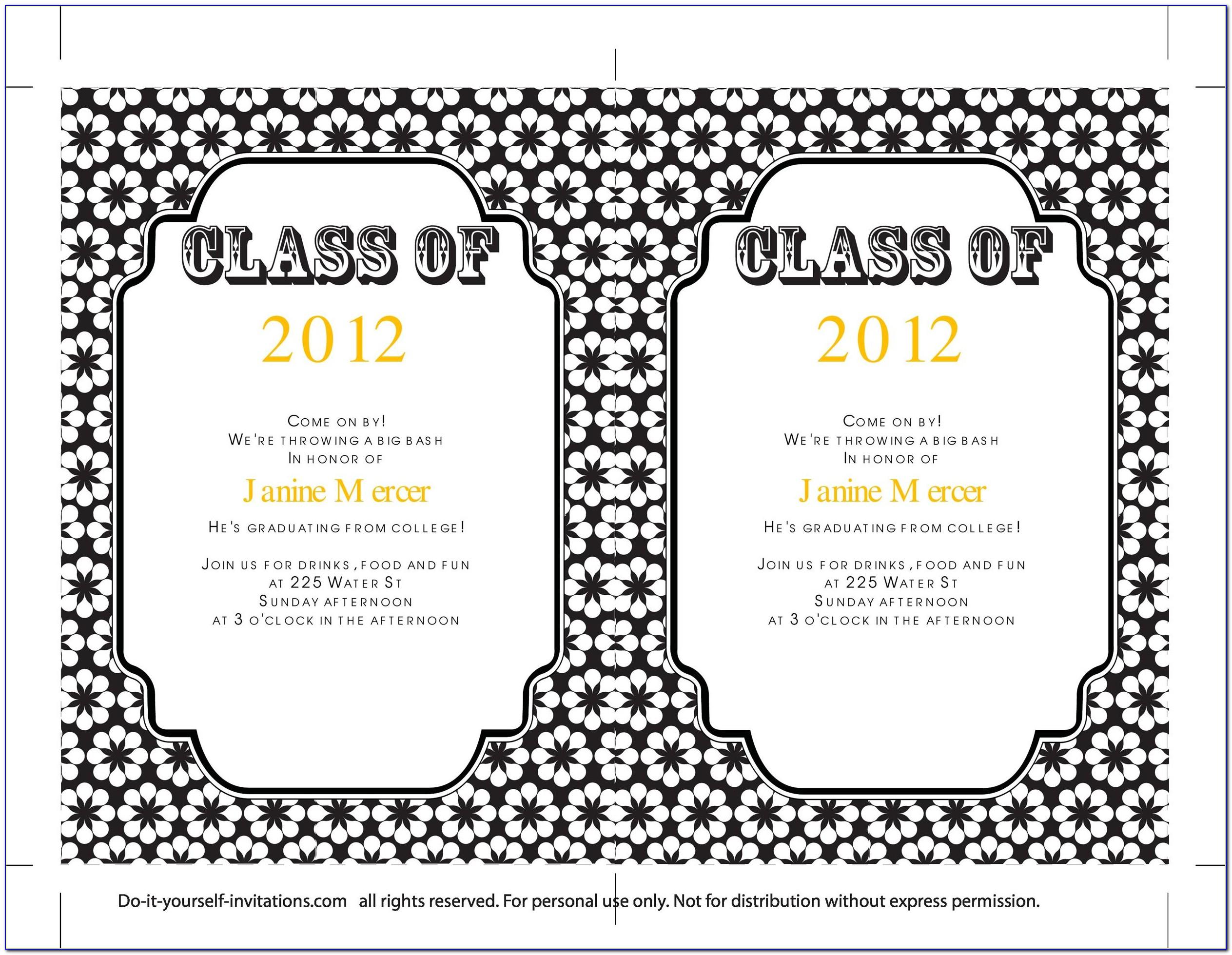 Free Printable Graduation Invitation Templates 2015