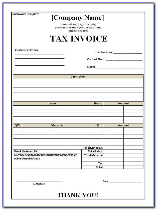 Free Printable Invoice Template Australia