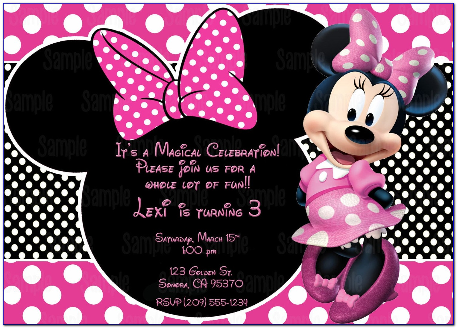 Free Printable Minnie Mouse Baby Shower Invitation Templates