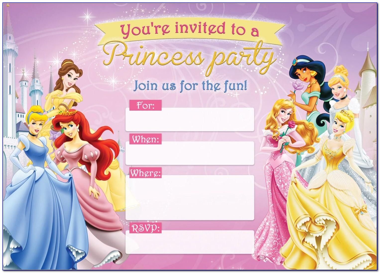 Free Printable Princess Invitation Templates
