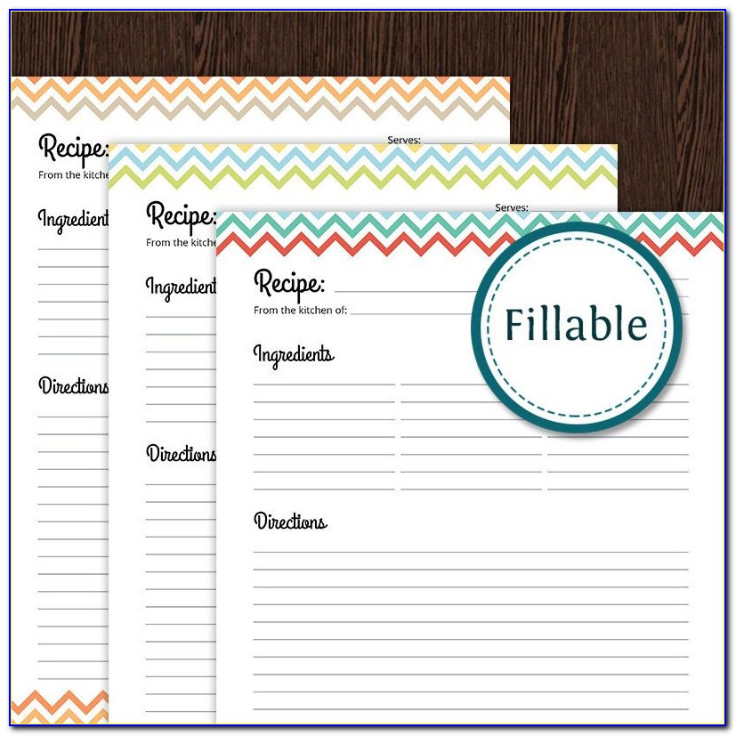 Free Printable Recipe Card Templates For Word