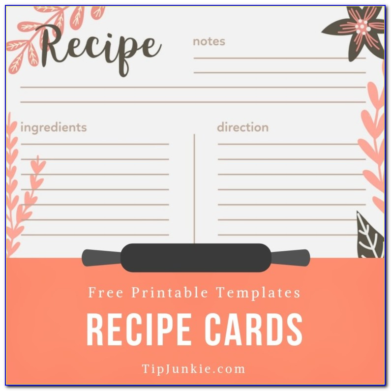 Free Printable Recipe Templates