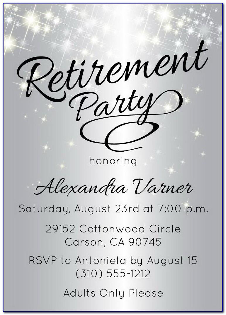 Free Printable Retirement Invitations Templates