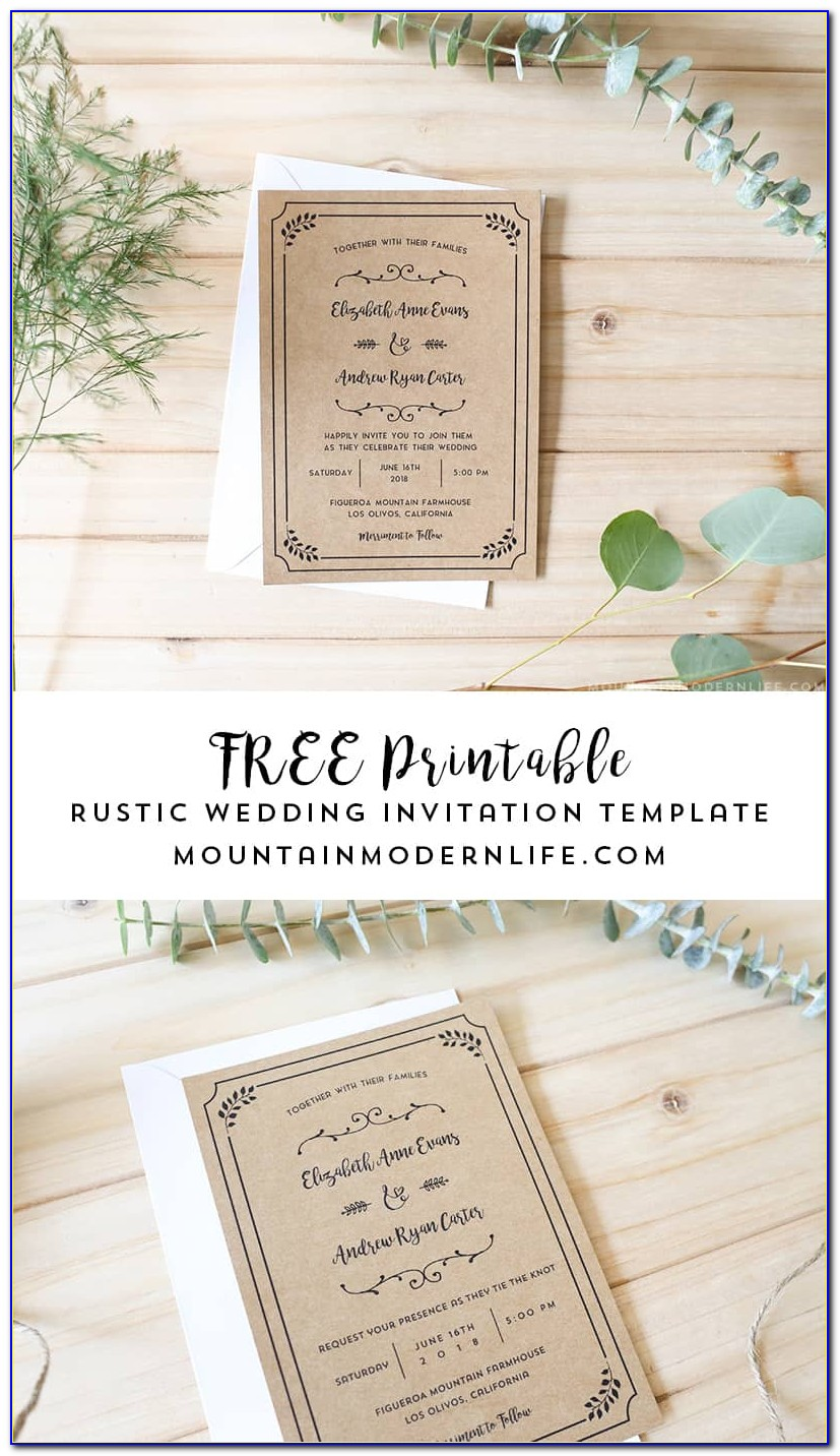 Free Printable Wedding Invitations Templates Uk