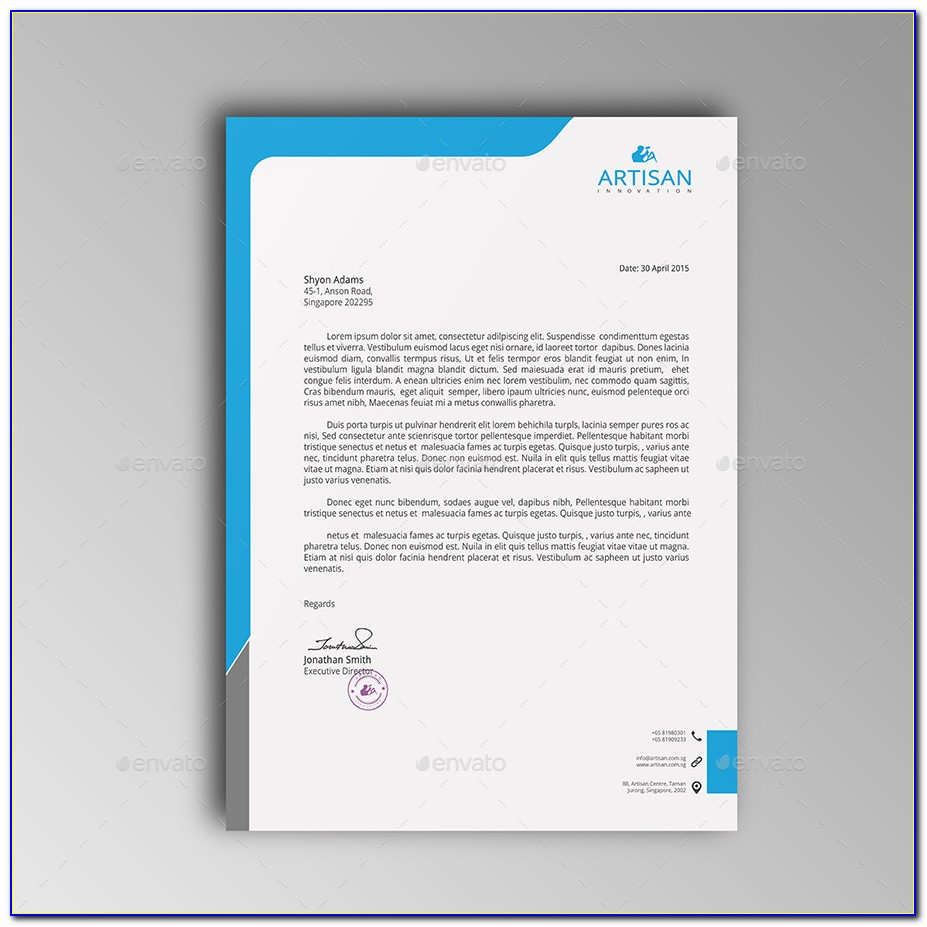 Free Professional Letterhead Design Samples