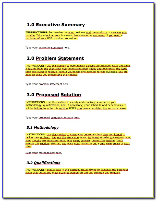 Free Project Proposal Template Download