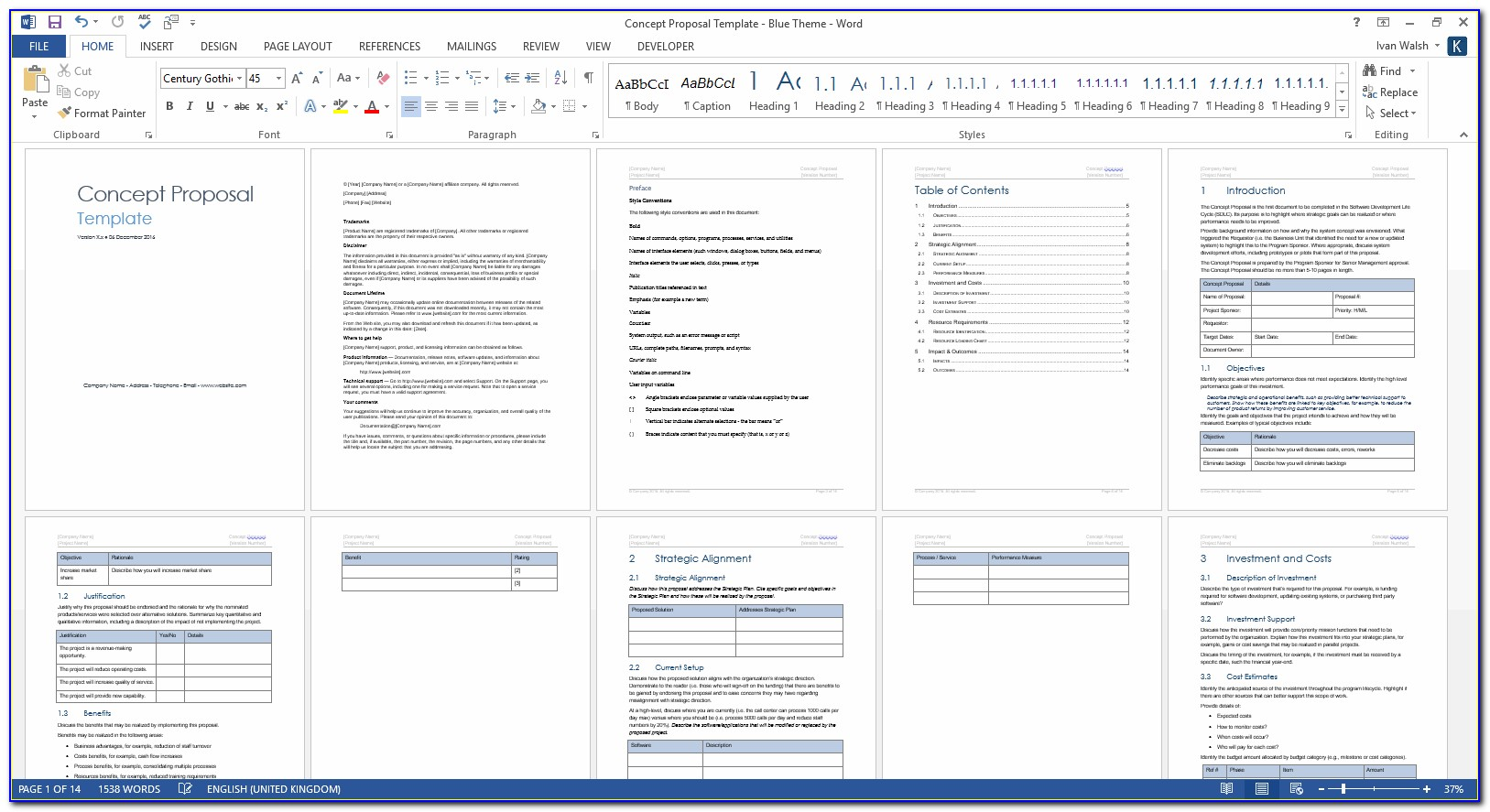 Free Project Proposal Template Ppt