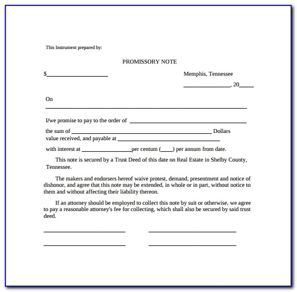 Free Promissory Note Template Pdf