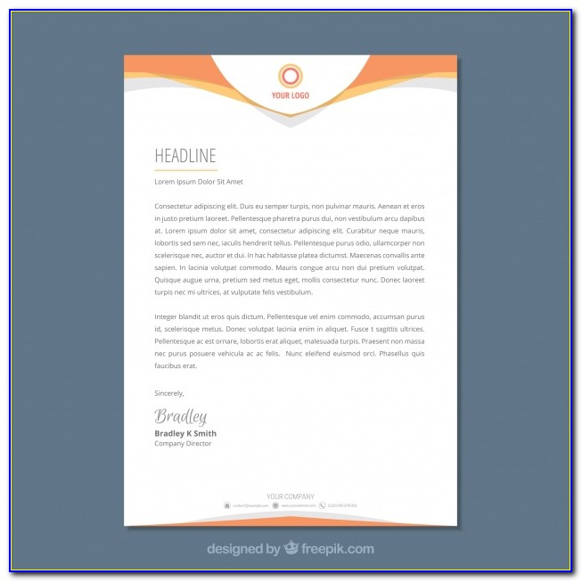 Free Sample Company Letterhead Download