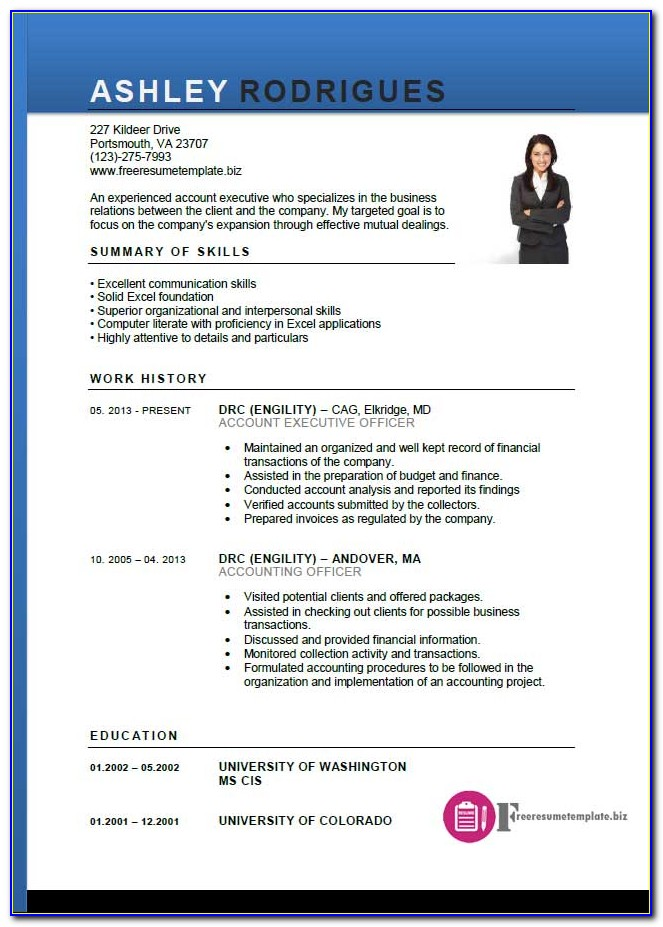 Free Sample Executive Resume Templates
