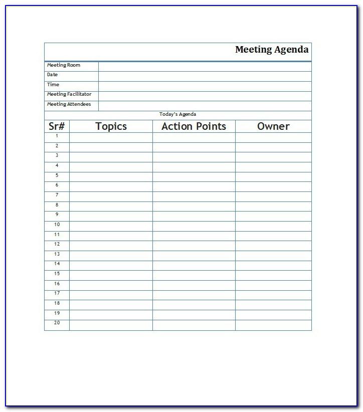 Free Samples Of Meeting Minute Template