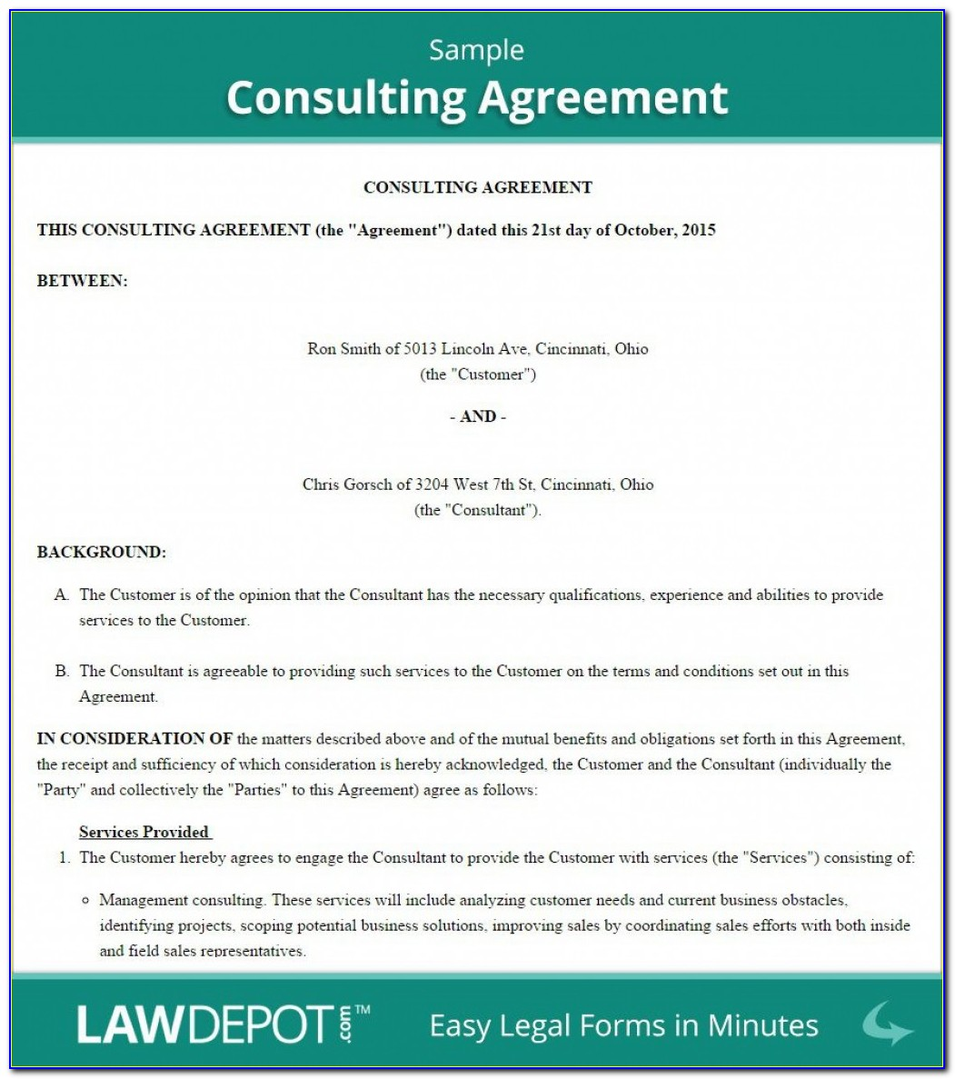 Free Short Form Consulting Agreement