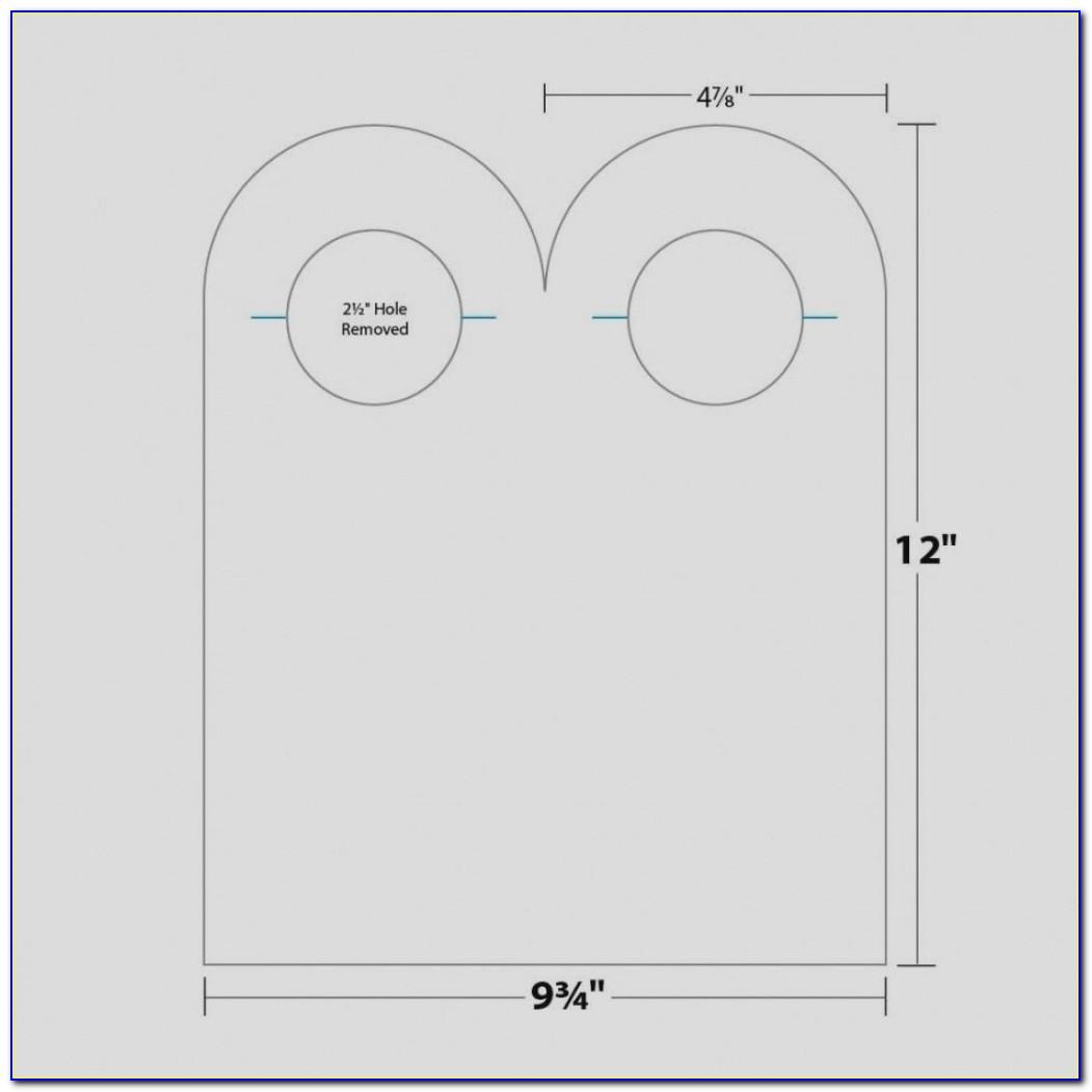 Free Wedding Door Hanger Template