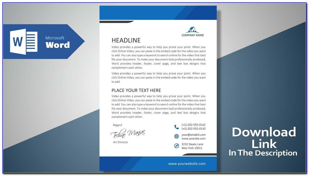 Letterhead Sample Free Download Word