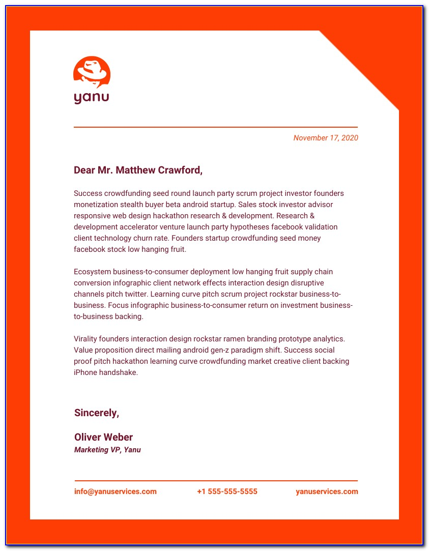 Professional Letterhead Design Samples Free Download