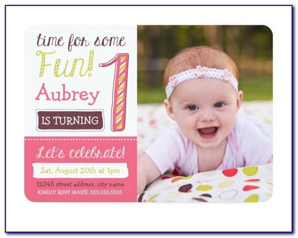 1st Birthday Invitations Templates Free