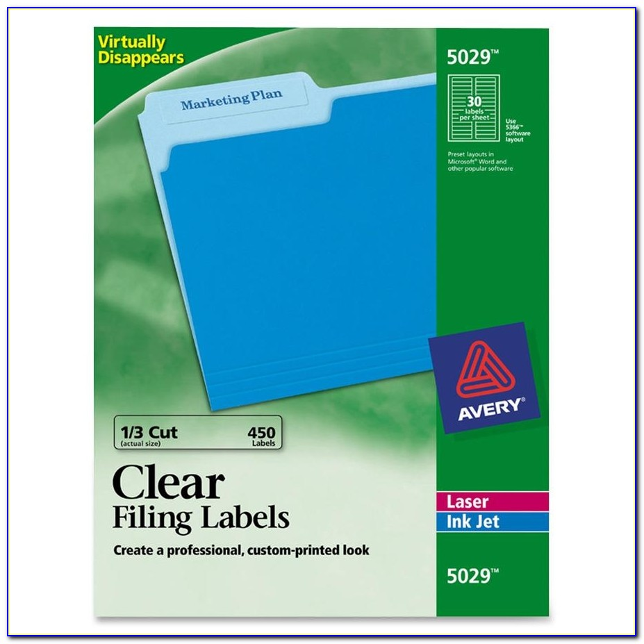 Avery White Filing Labels 5366 Template