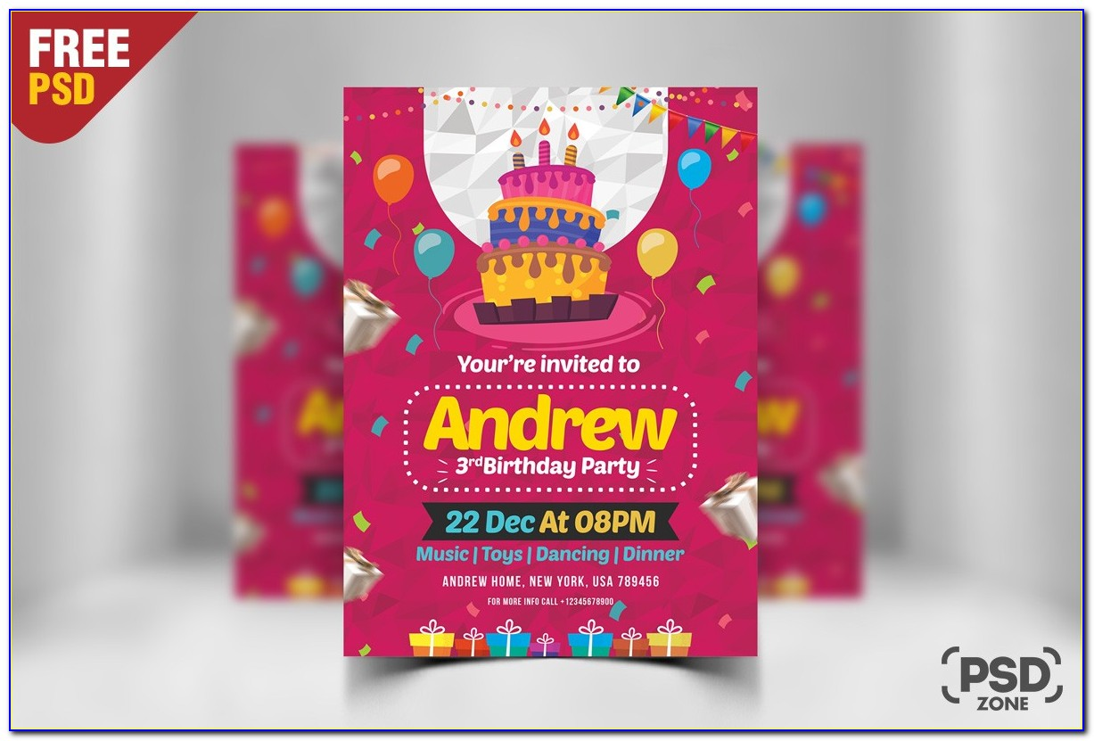 Birthday Gift Certificate Template Word Free Download