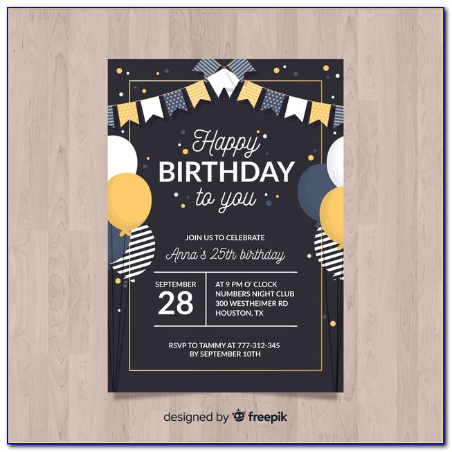 Birthday Invitation Psd Templates Free Download