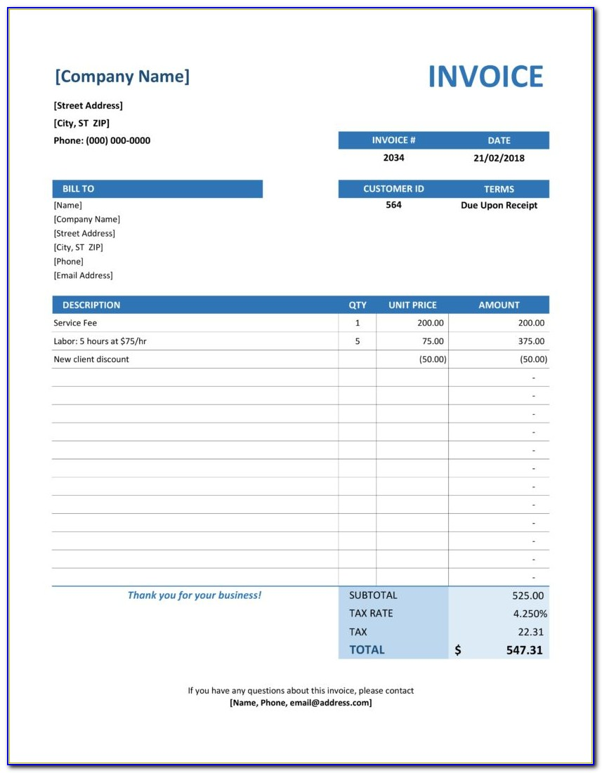 Budget Control Report Excel Template