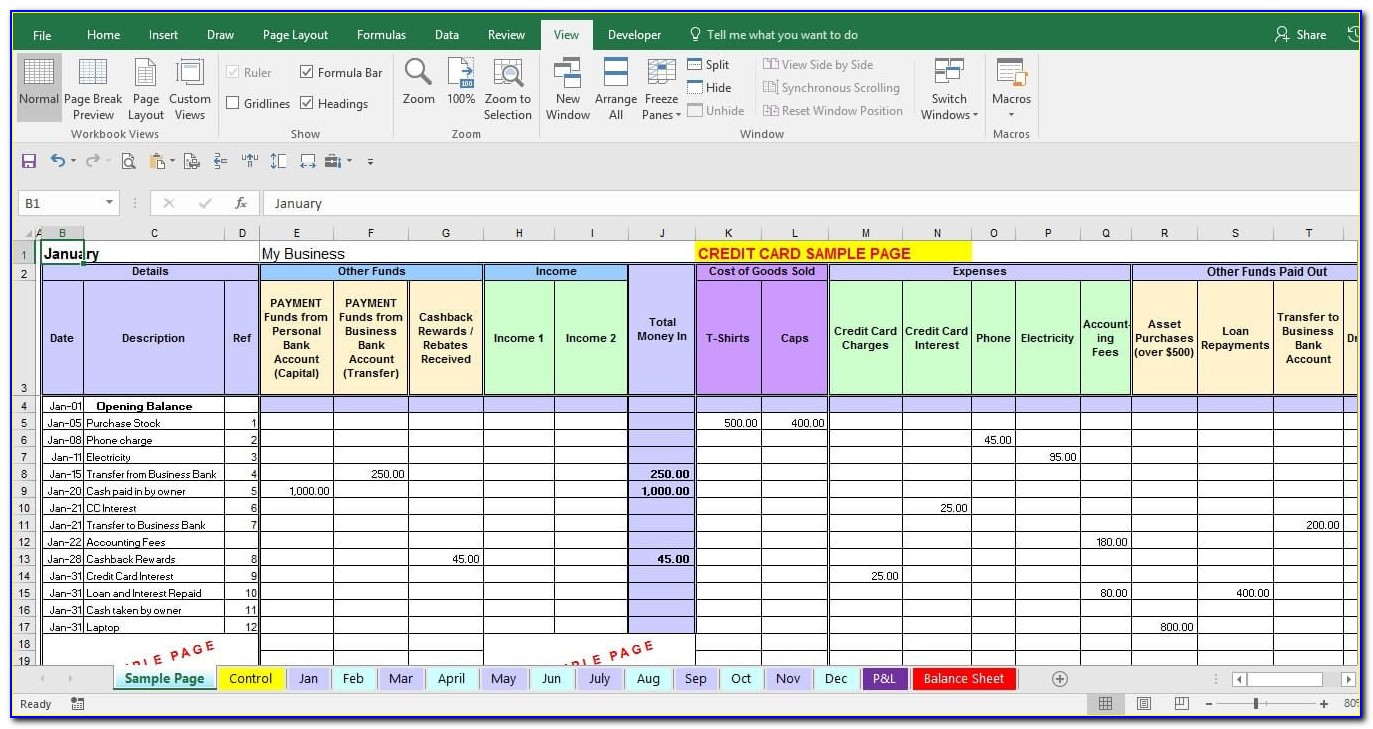 Business Expense Tracker Template Excel