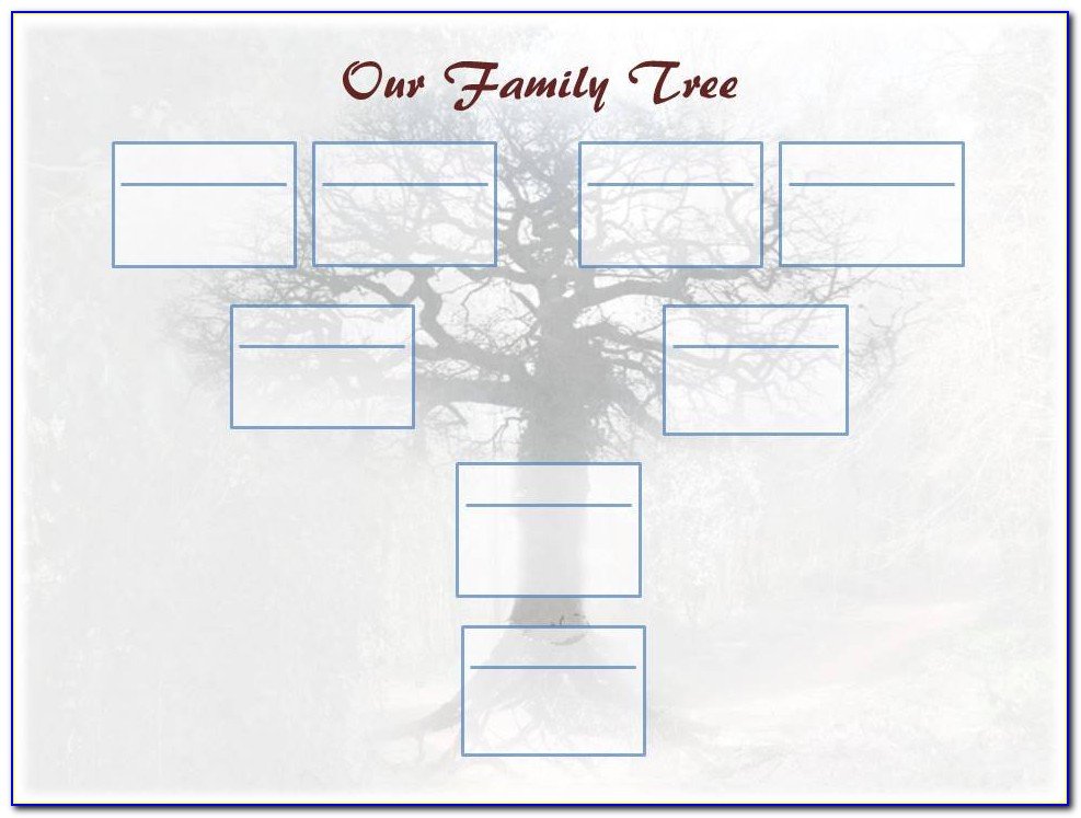 Editable Family Tree Template Free Download