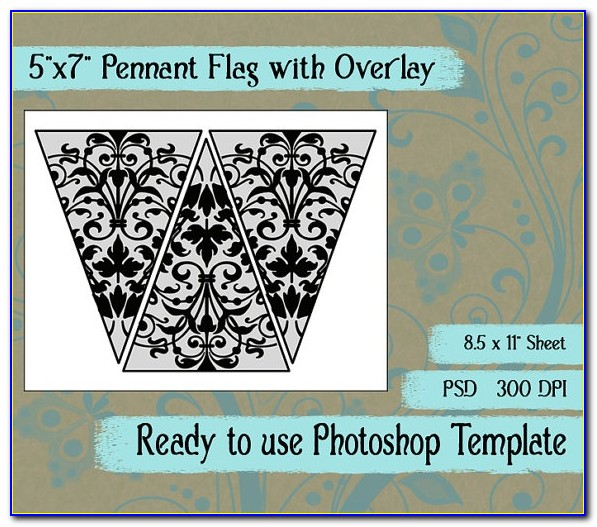 Editable Pennant Banner Template Free