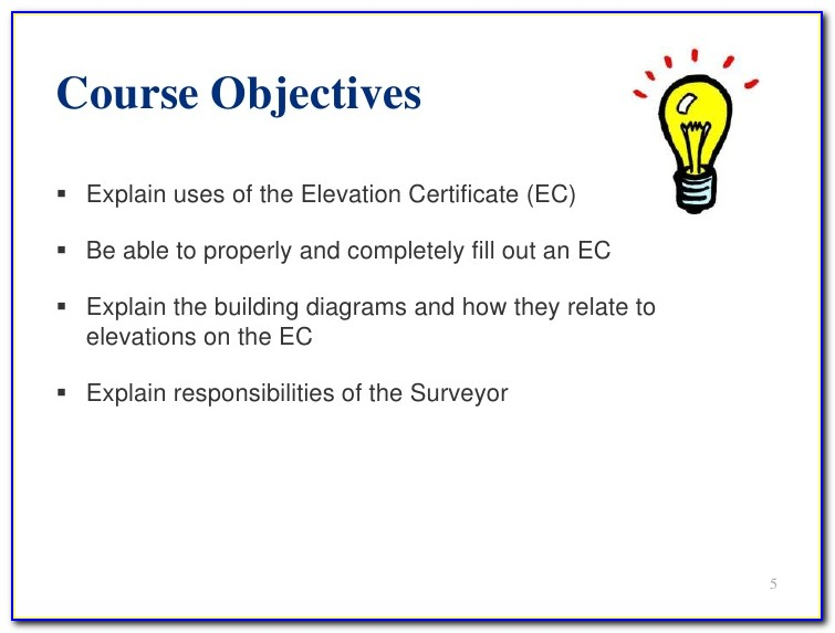 Elevation Certificate Hawaii