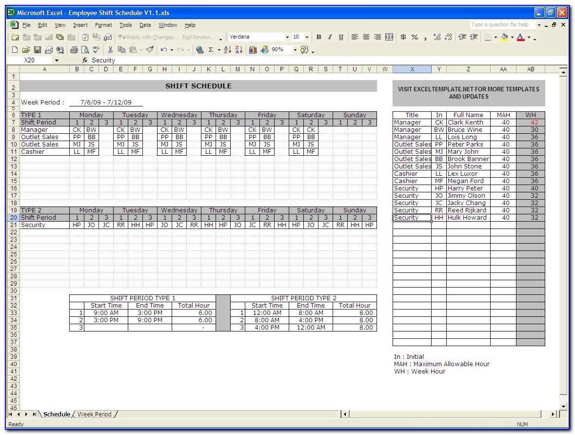 Excel 2010 Service Invoice Template