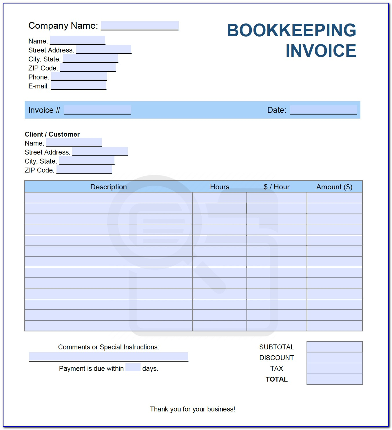 Excel Bookkeeping Spreadsheet Free Download