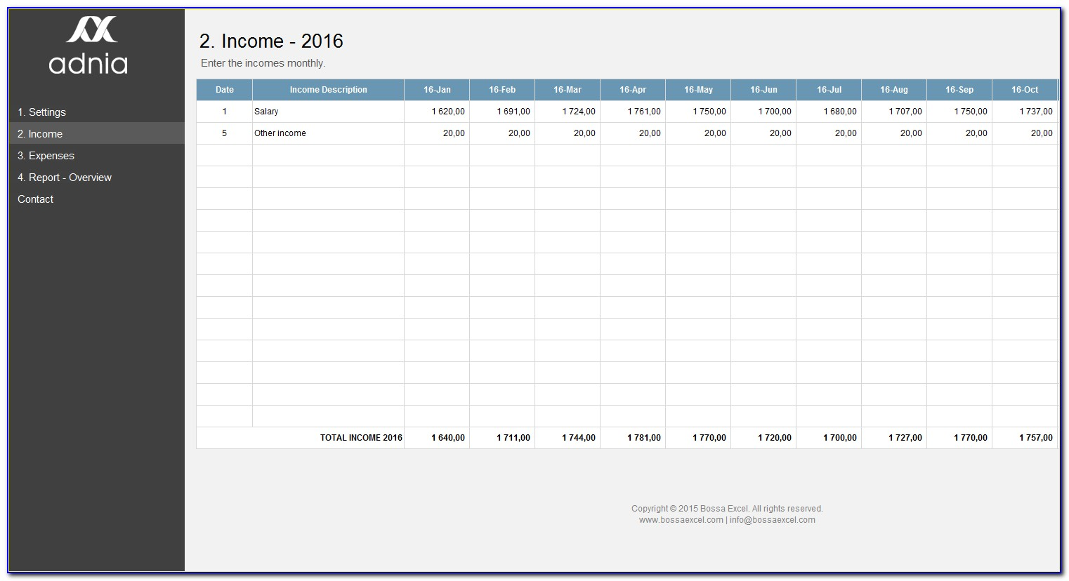 Excel Budget Tracking Template