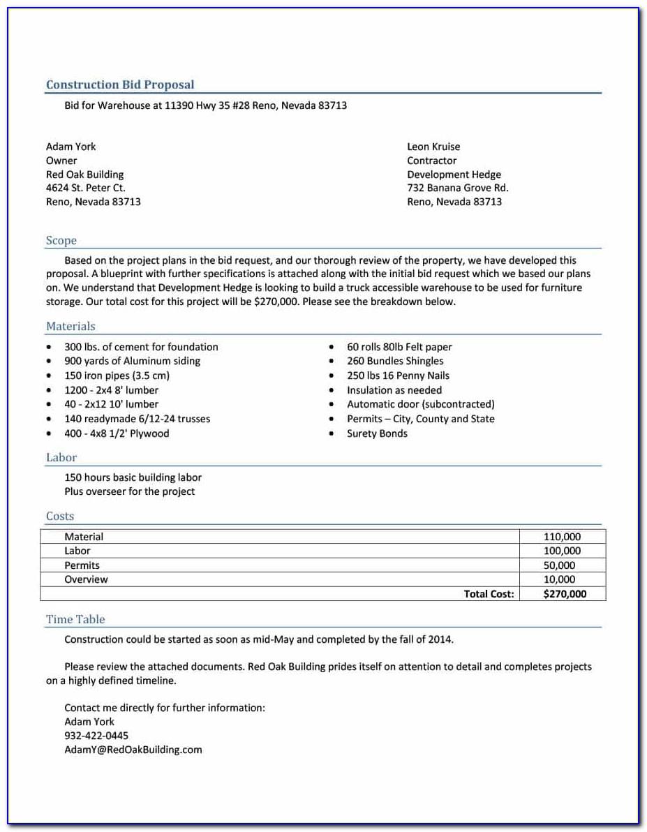 Excel Construction Cost Estimate Template