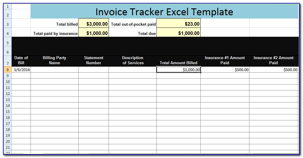 Excel Invoice Tracking Template Download