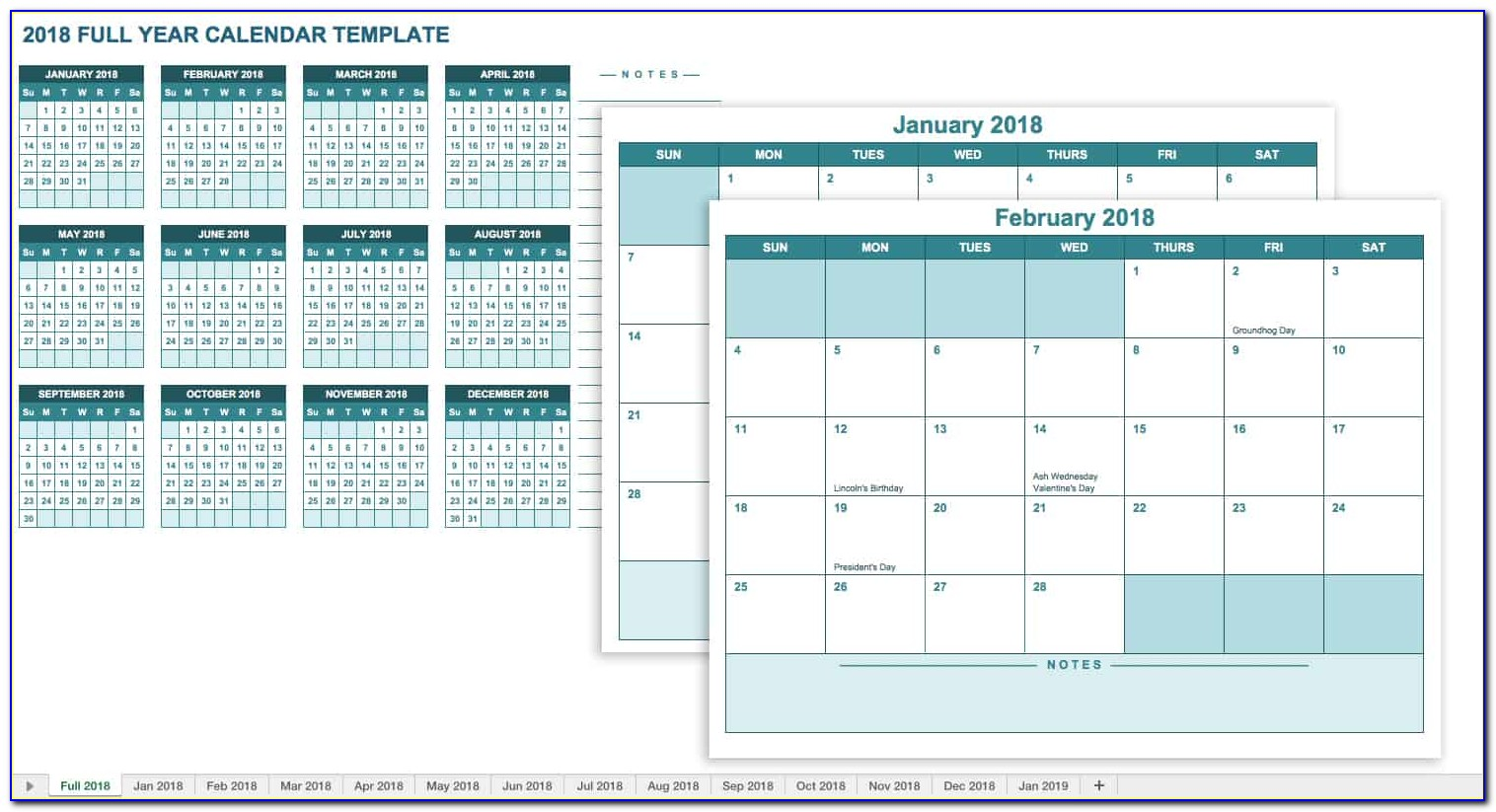 Excel Monthly Calendar Template 2010