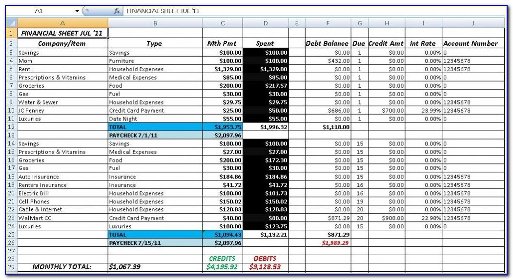 Excel Project Budget Template Free