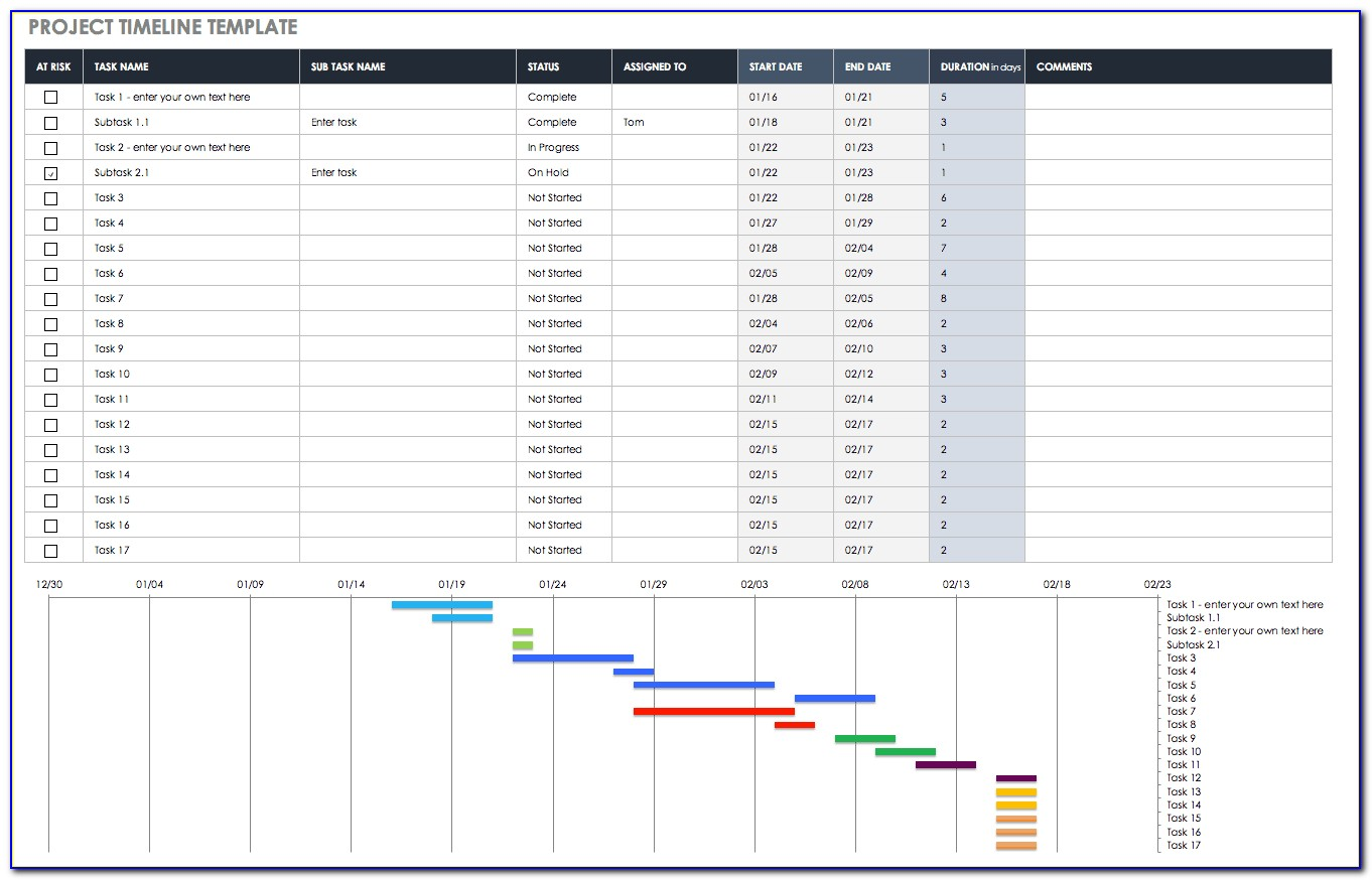 Excel Project Status Template